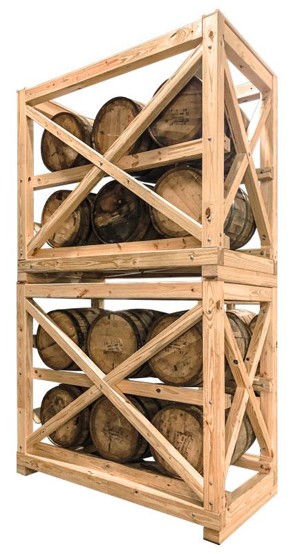 K-RAX Portable Barrel Racks Stacked